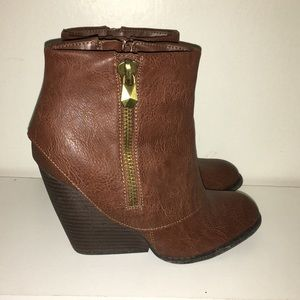 Fergalicious Ankle Wedge booties
